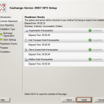 Install Exchange 2007 SP3 in Windows Server 2008 R2