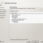 Configure Send Connector in Exchange 2010