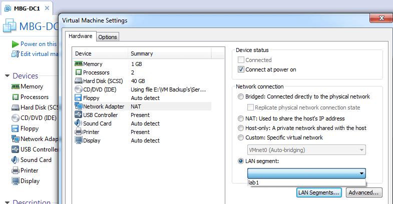 Add LAN Segment