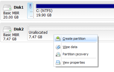 Creating Partition