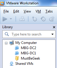 Library of VMware Workstation 8