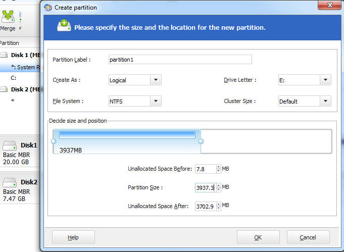 Naming Partition Label