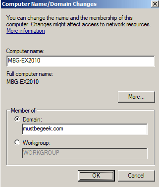 How to Join Windows Server 2008 to Active Directory Domain