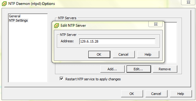 Configure NTP Server in ESXi Host