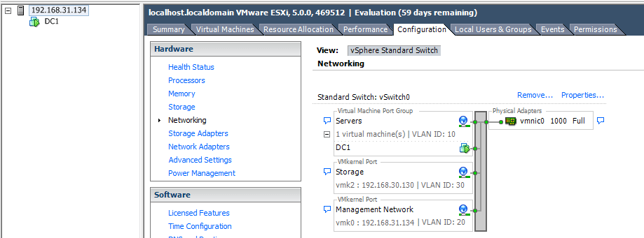 Configure NIC Teaming in ESXi Server