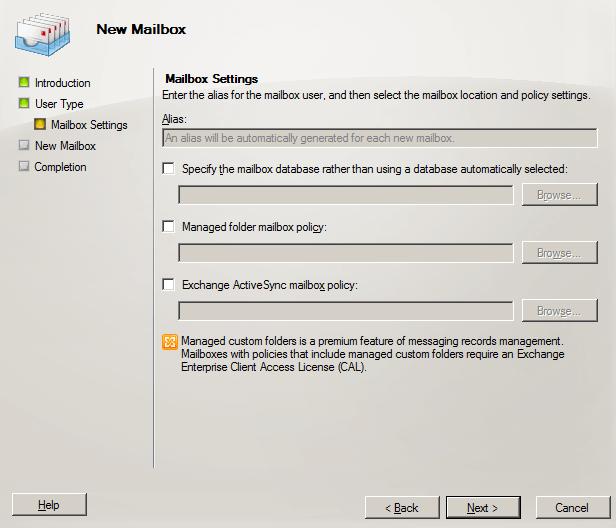 Mailbox Setting
