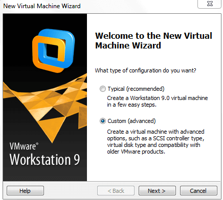 Creating new virtual machine