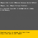 Configure Password of ESXi Server