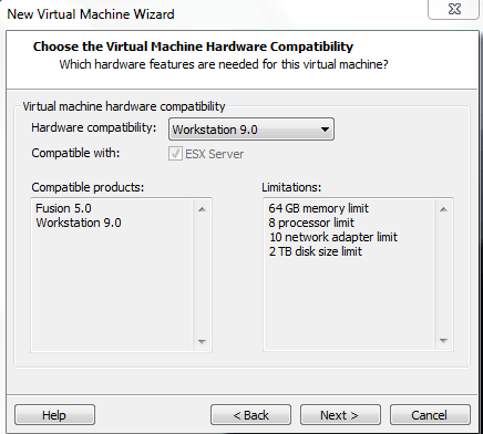 Installing Hyper V in VMware Workstation 9