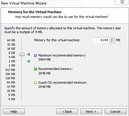 Memory for Virtual Machine