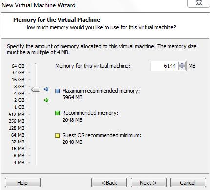 Memory for Virtual Machine