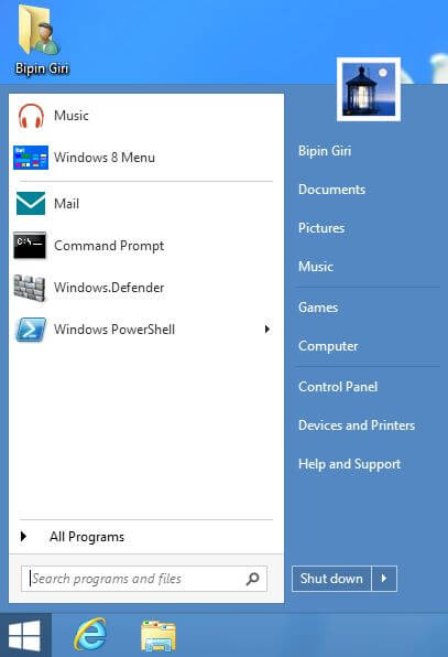 Best Start Menu for Microsoft Windows 8