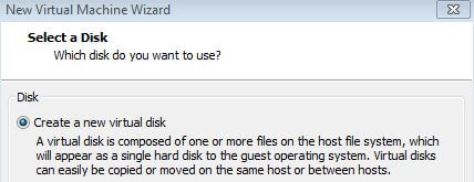 Select a Disk