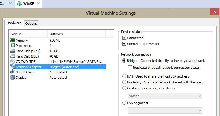 Connect VMware Workstation Virtual Machine to Physical Network
