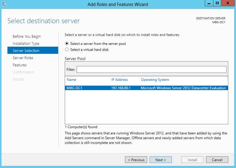Install Active Directory in Windows Server 2012