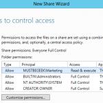 Share Folder in Windows Server 2012