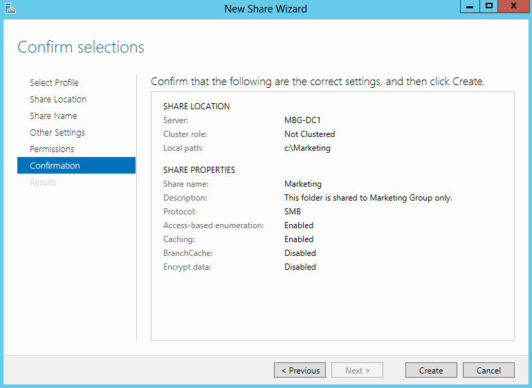 Setup Shared Folder in Windows Server 2012