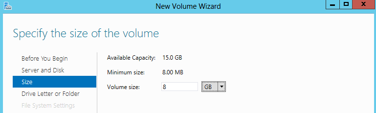 Size of Volume