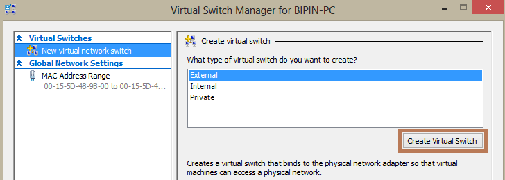 Configure Hyper V Virtual Machine With Internet Connection
