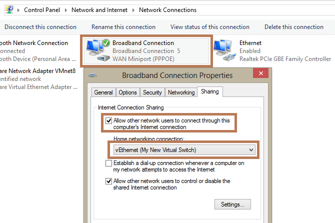 Properties of Broadband Connection