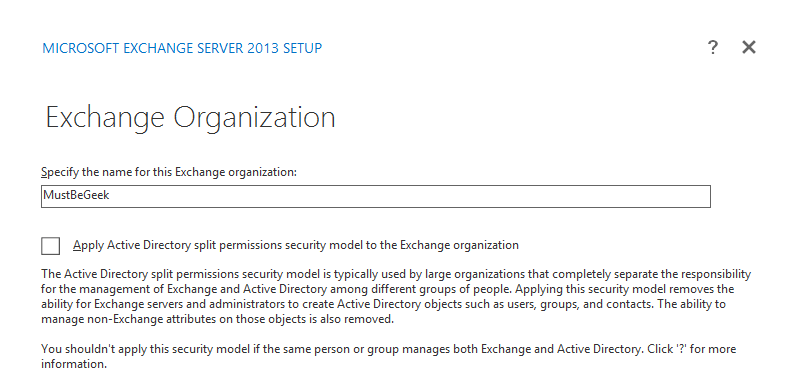 Exchange Organization