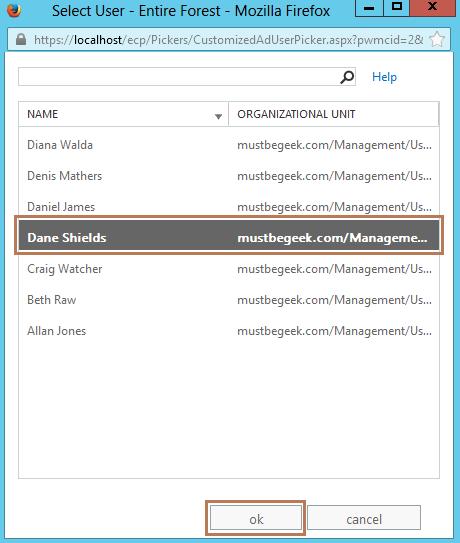 3. Select User