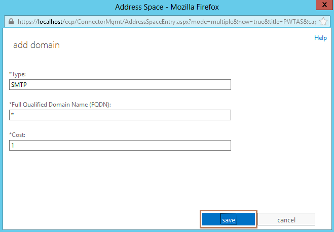 9. Send Connector Domain Configuration