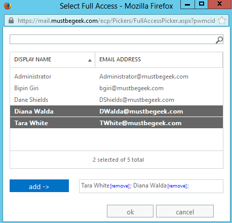 Create Shared Mailbox in Exchange Server 2013