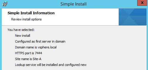 Review Installation Options