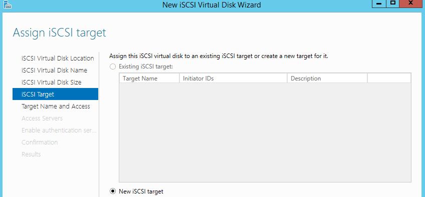 Create iSCSI Target