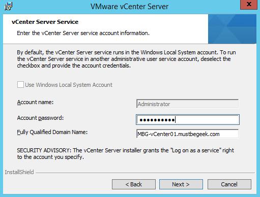 vCenter Server Service