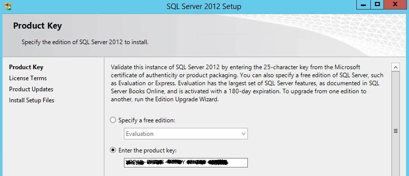sql server product key is not valid