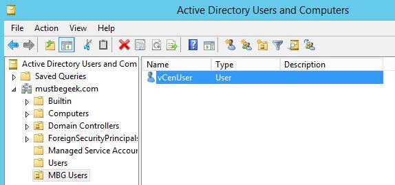 Create User in AD