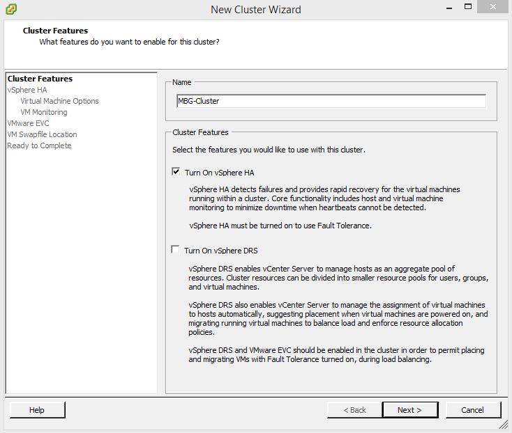 Configure VMware vSphere HA in vSphere 5.5