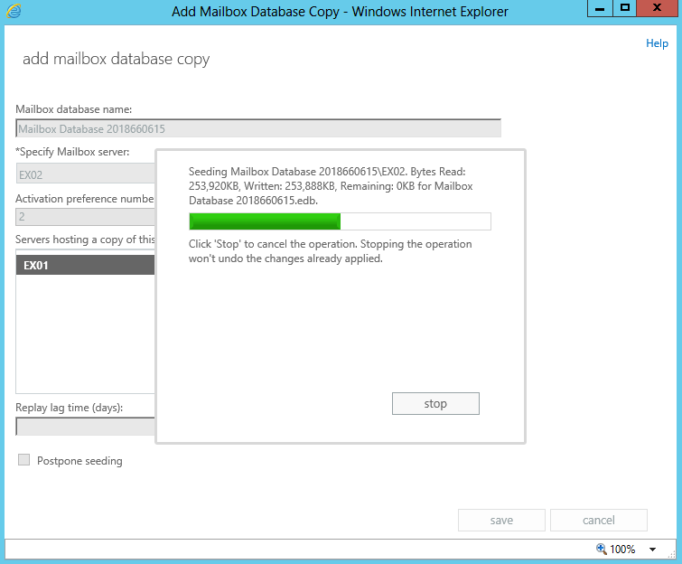 Configure Database Replication in Exchange 2013
