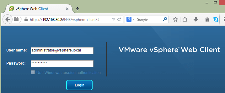 Configure Single Sign-on in VMware vCenter 5.5