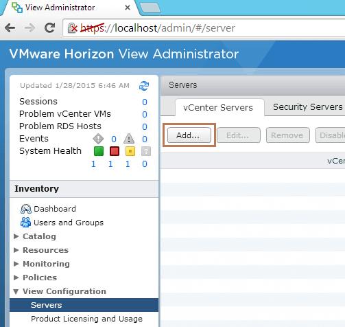 Add vCenter Server