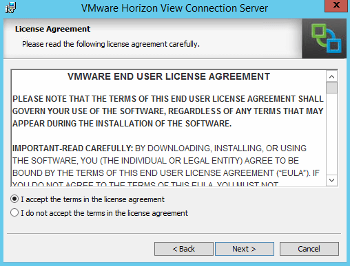 Install VMware Horizon 6 View Connection Server