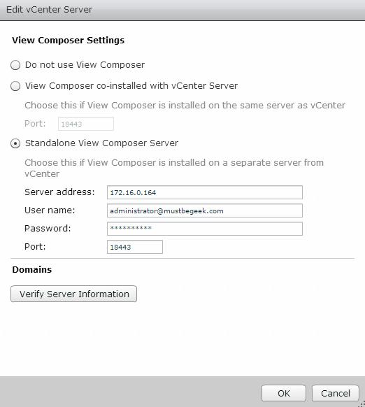 Add View Composer Server