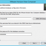 Install VMware Horizon 6 View Composer Server