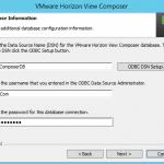 Install VMware Horizon 6 View Composer Server