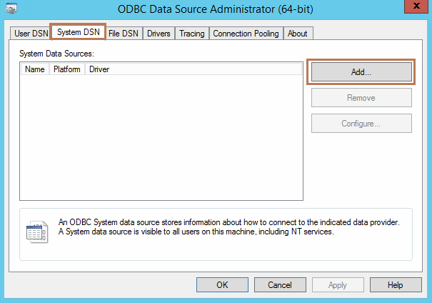 Create ODBC Database Connection in Horizon View Composer Server