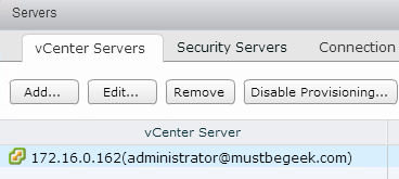 vCenter Added