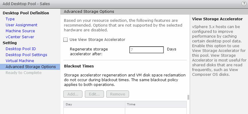 storage option
