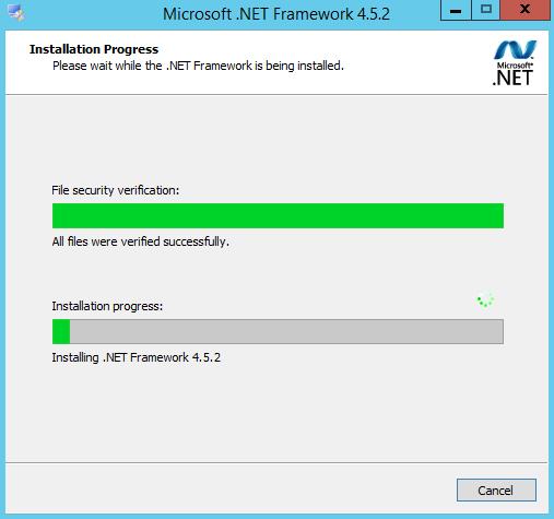 2. .Net Framework Installation