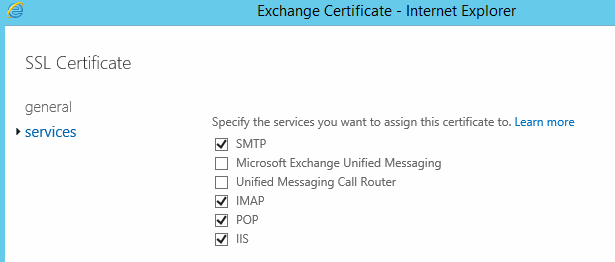 Install SSL Certificate in Exchange 2016