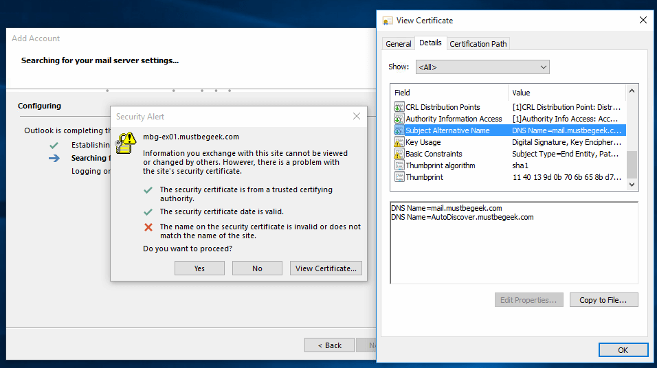 Configure Autodiscover In Exchange 2016