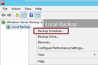 create backup schedule