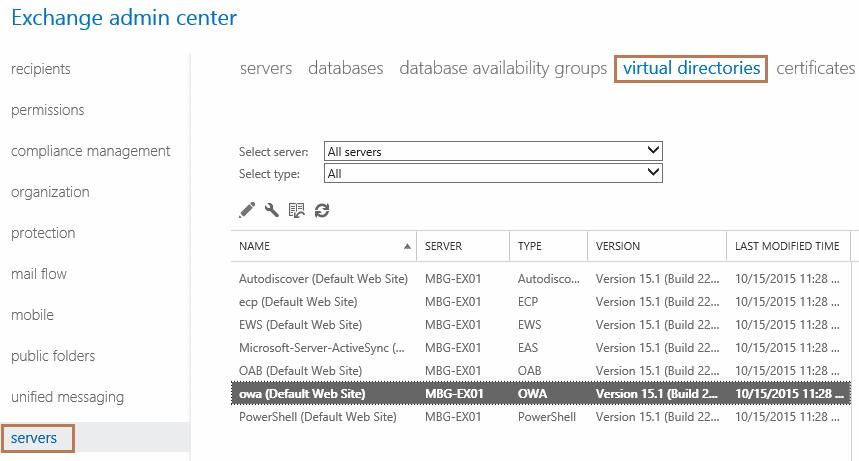 edit virtual directories