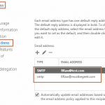 Configure Email Address Policy in Exchange 2016